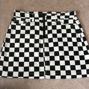 Urban Outfitters Checker Print Skirt